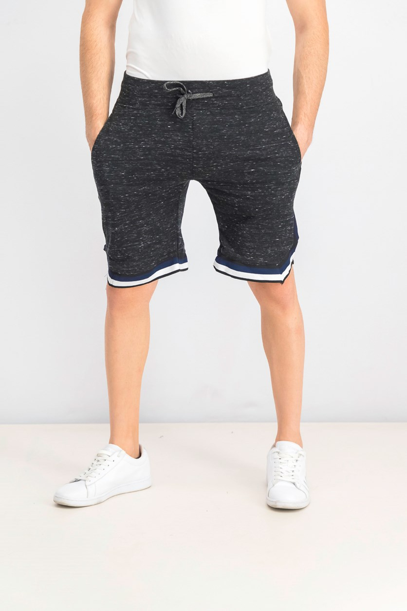 Men's Drawstring Shorts, Black Combo