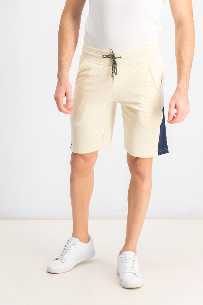 Men's Colorblocked Short, Oatmeal/White/Navy