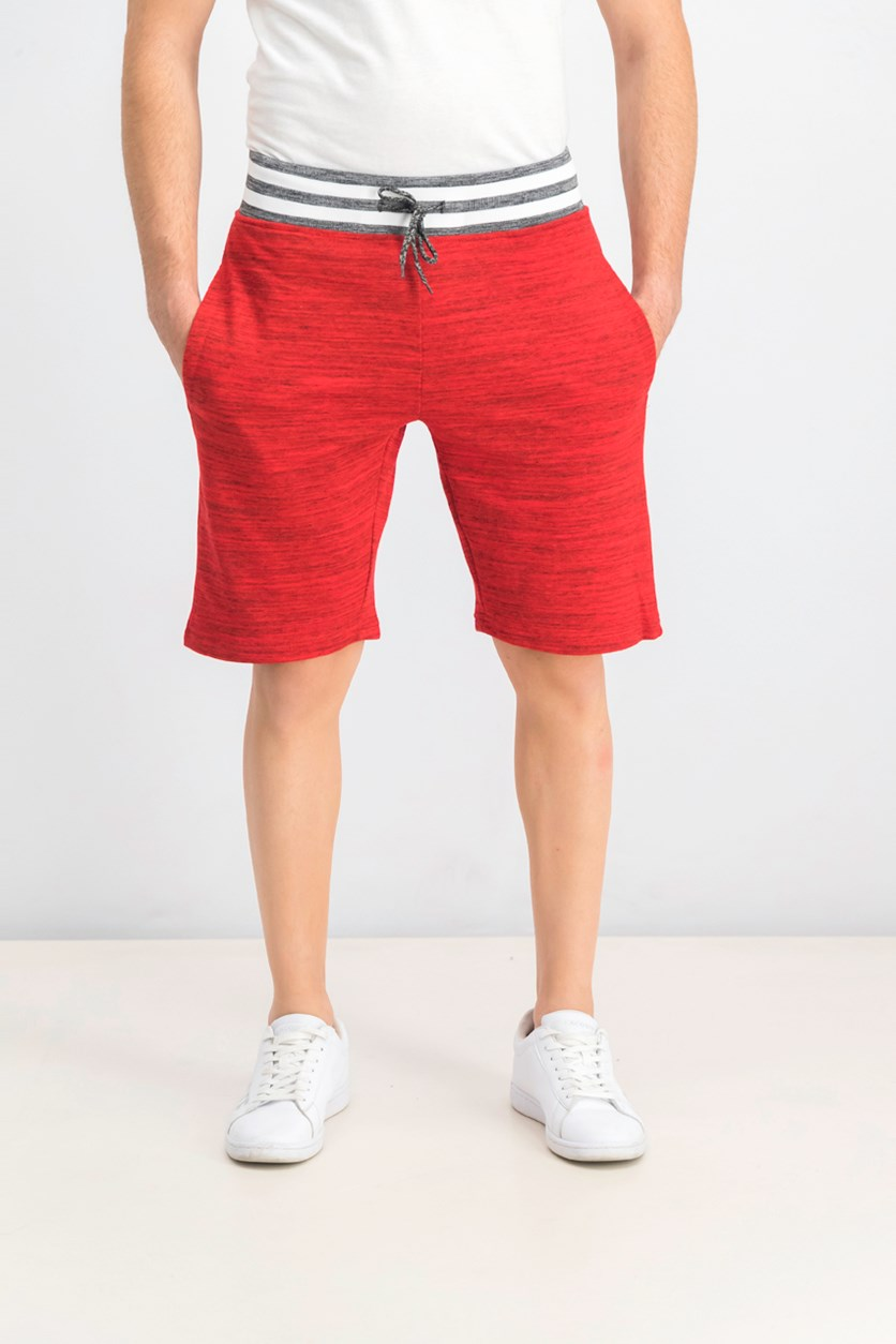 Men's Marled Knit Short, Red/White/Black