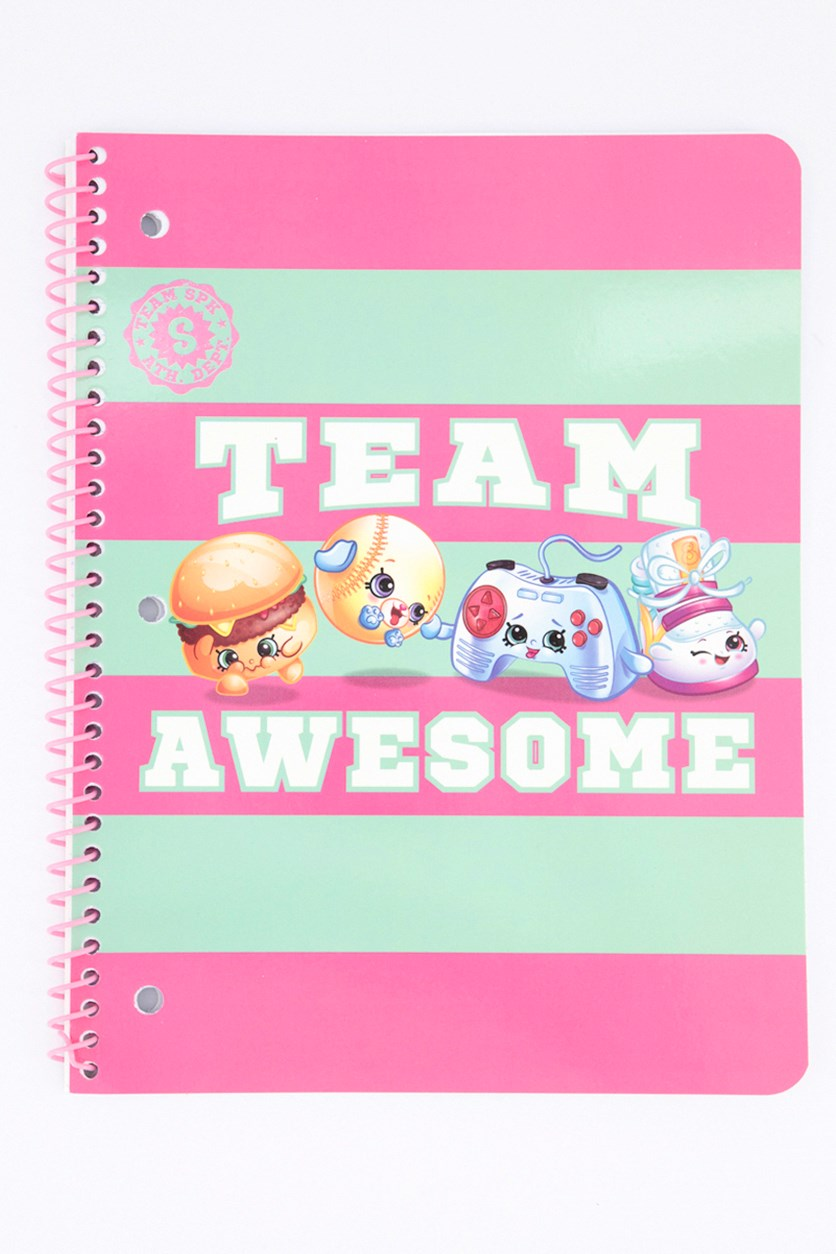 Team Awesome Writing Notebook, Pink/Green