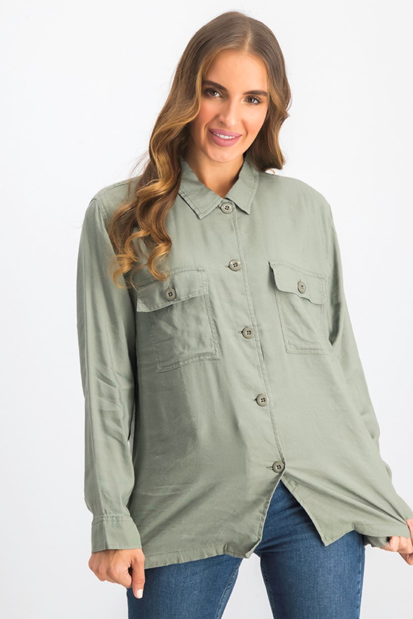 Women's Everett Utility Shirt, Olive