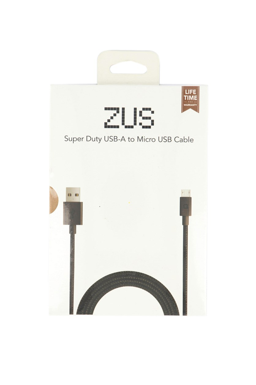 Super Duty USB-A To Micro USB Cable, Black