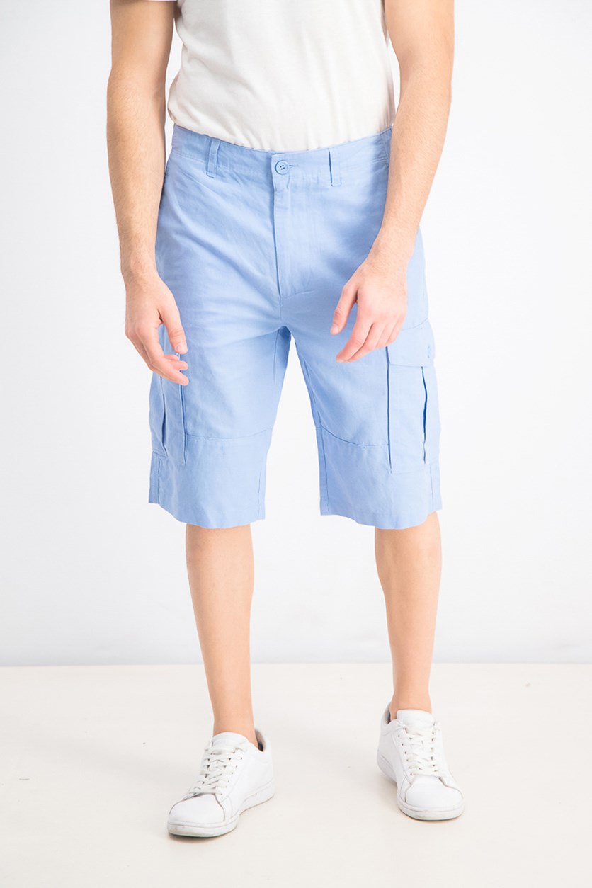 Men's Cargo Shorts, Mineral Blue
