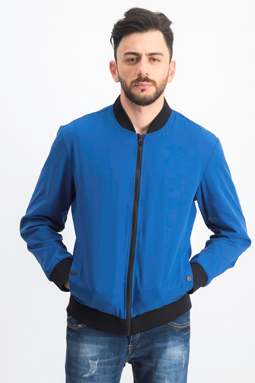 Men's Mesh Bomber Jacket, Royal Blue