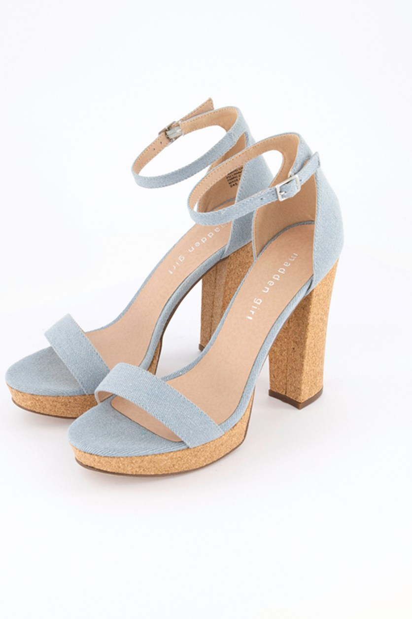 Women's Suzy C Denim Sandals, Denim Blue