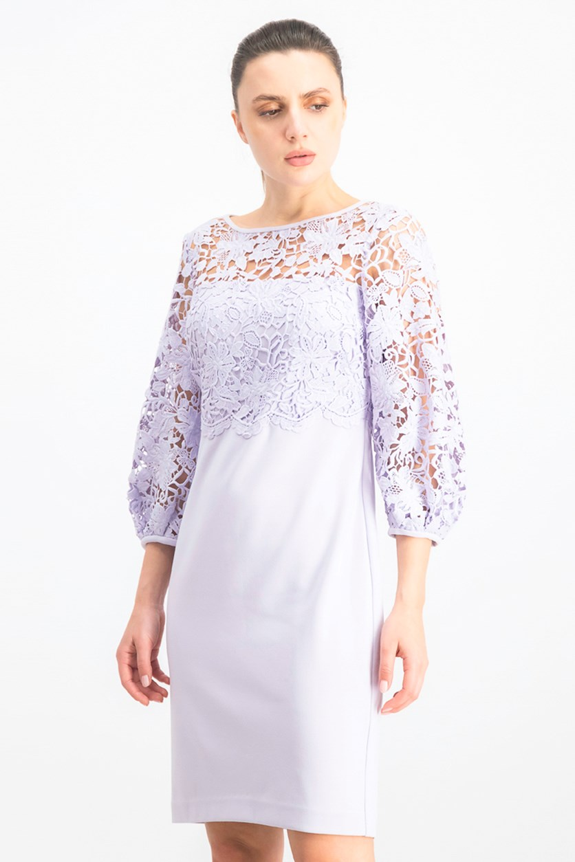 Women's Lace Dress, Lavender