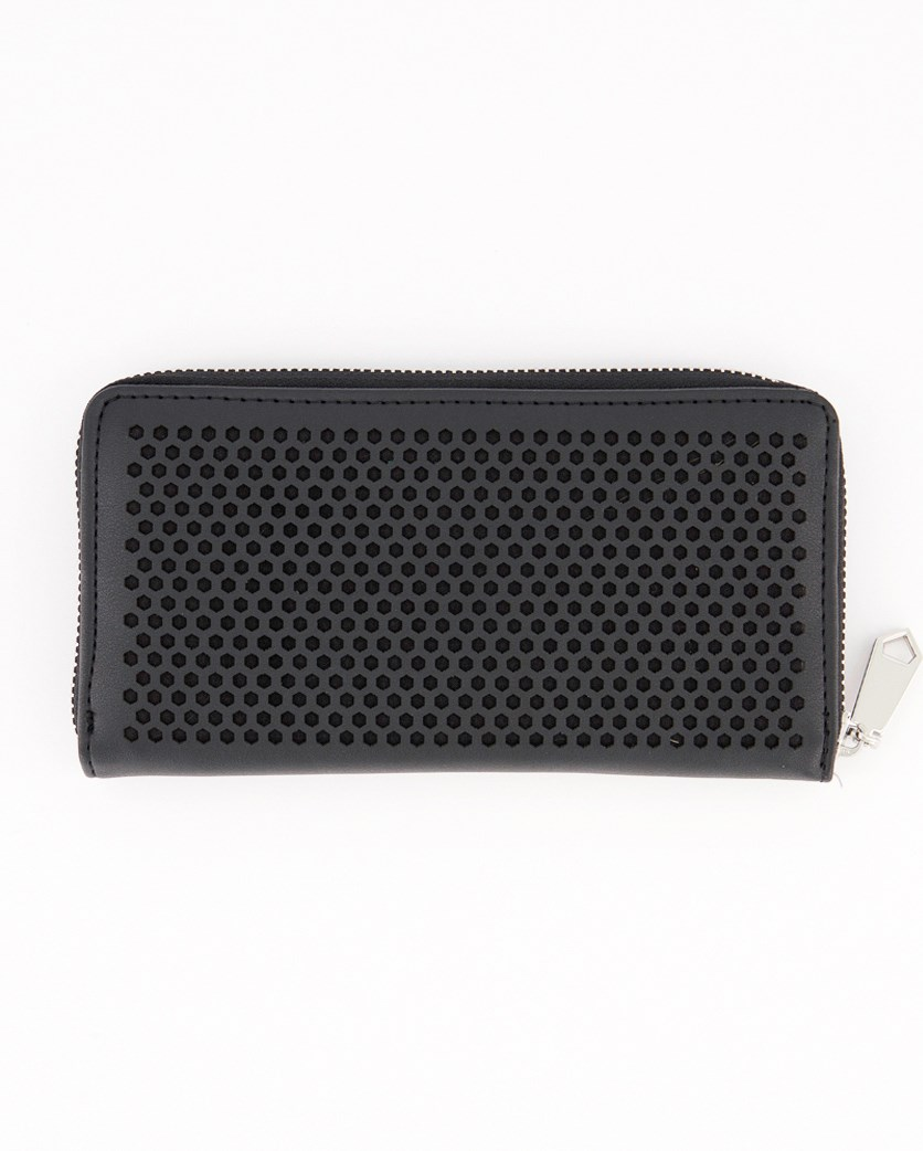 Women's Zip Around Wallet, Black