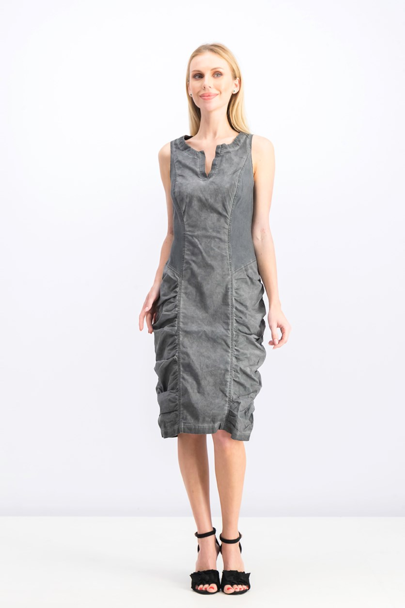 Women's Raymond Ruched Dress, Oil Spray