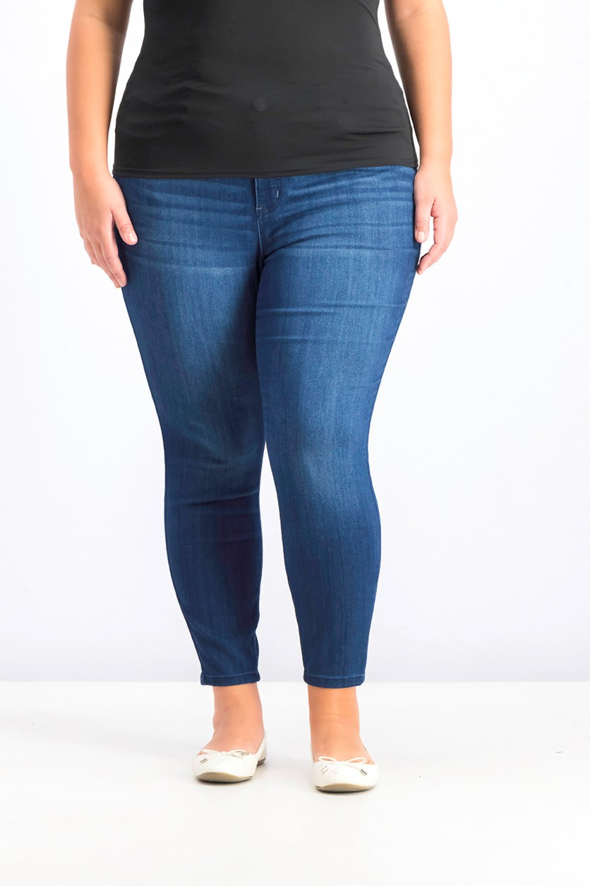 Petite Plus Size Infinite Stretch Dawson Skinny Jeans, Vintage Dark