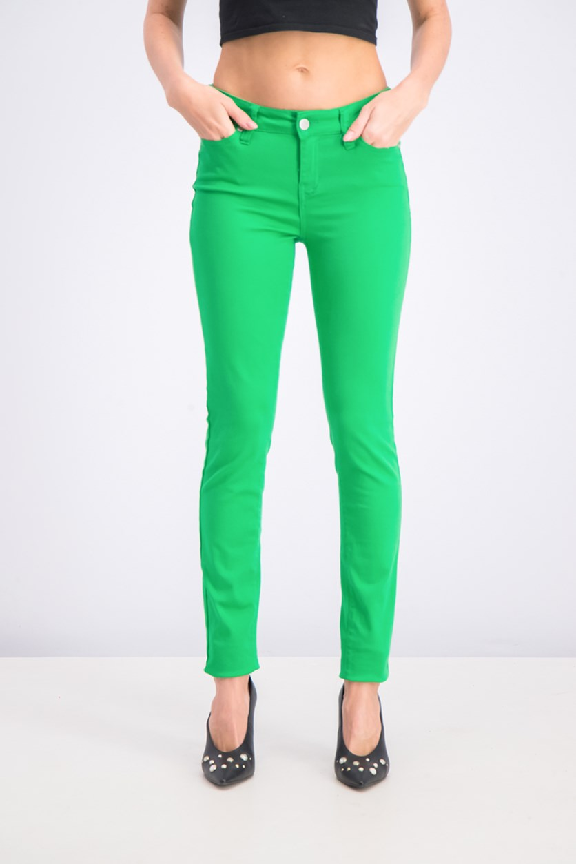 Juniors Skinny Jeans, Kelly Green
