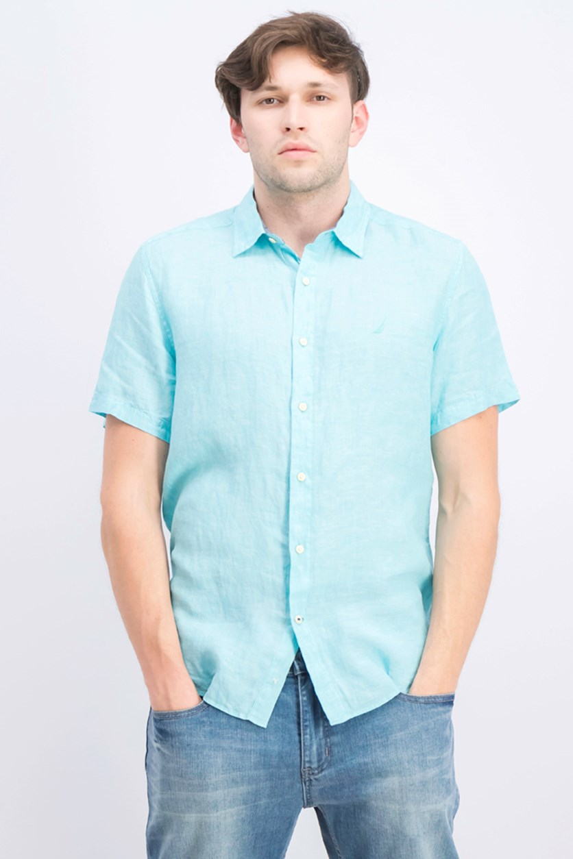 Men's Classic Fit Linen Shirt, Bali Bliss