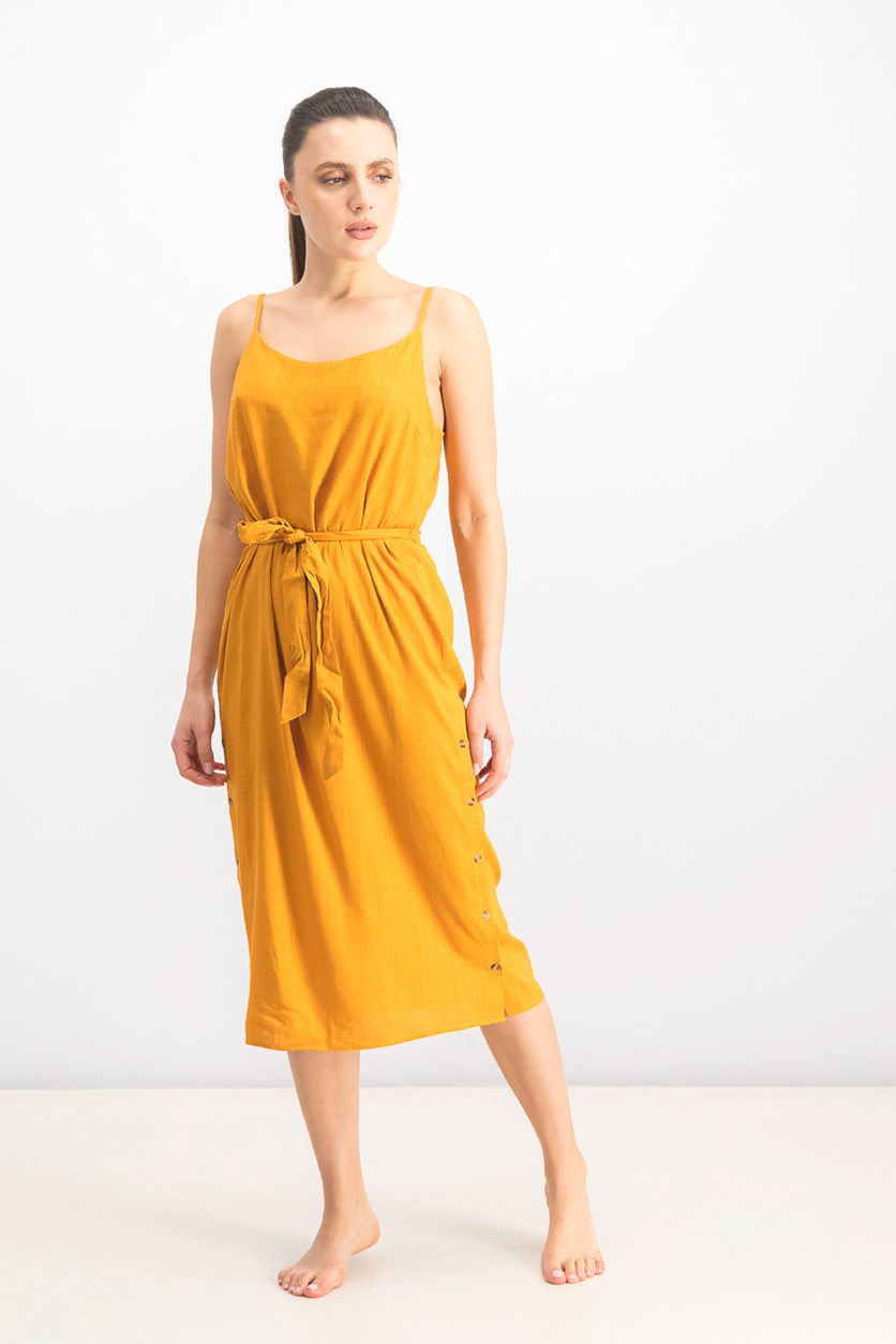 Midi Dress Swim Cover-up, Tangerine