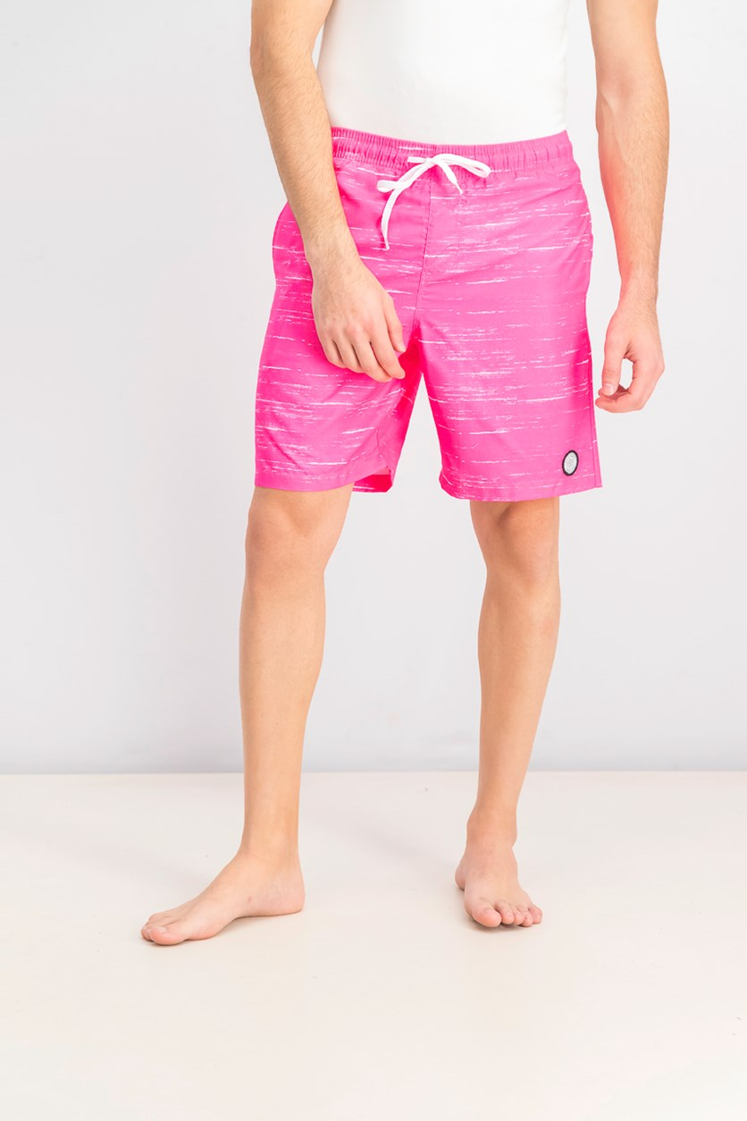 Men's Streaky Swim Trunks, Neon Pink