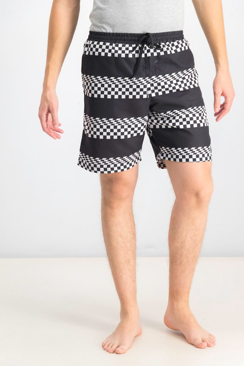 Men's Streaky Swim Trunks, Black/White