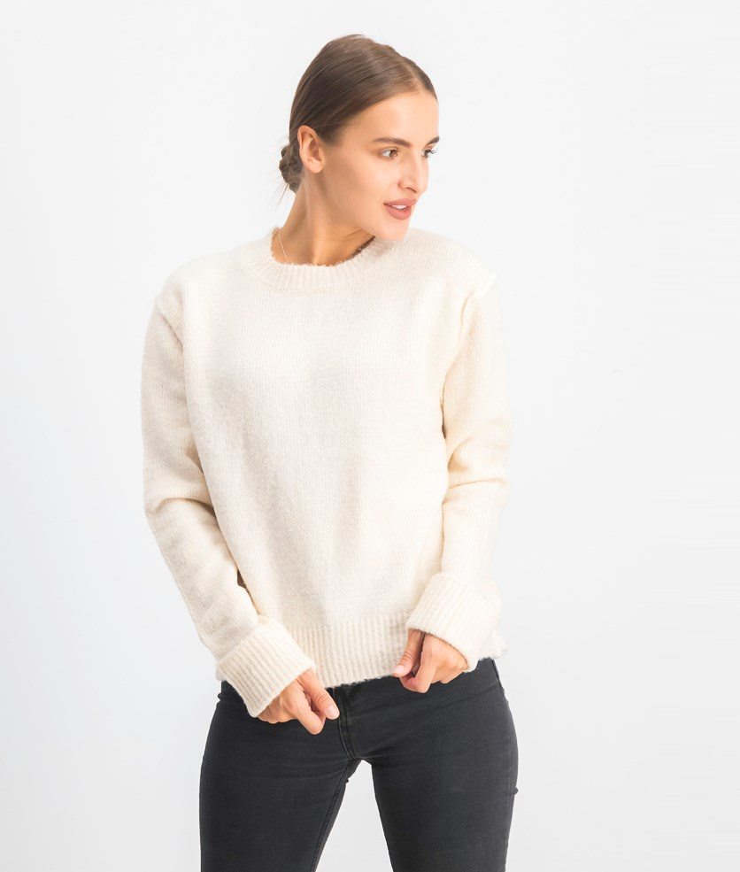 Women's Pullover Textured Sweater, Ivory