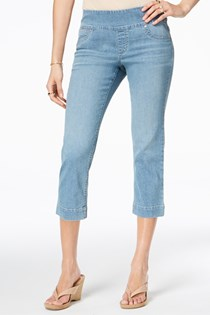Women's Pull-On Capri Jeans, Blue