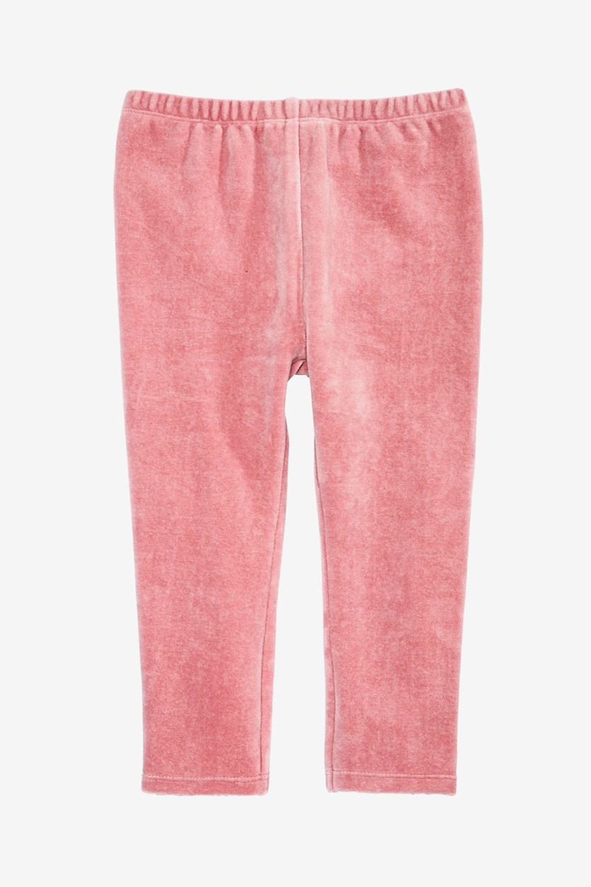Baby Girls Velour Leggings, Foxglove