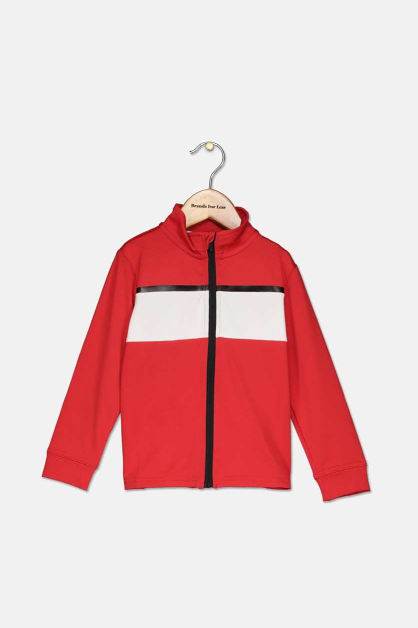 Big Boys Colorblocked  Active Jacket, Gumball Red
