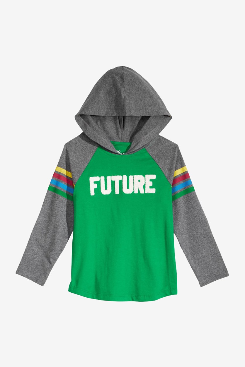 Boys Color-Stripe Future Hoodie, Jolly Green