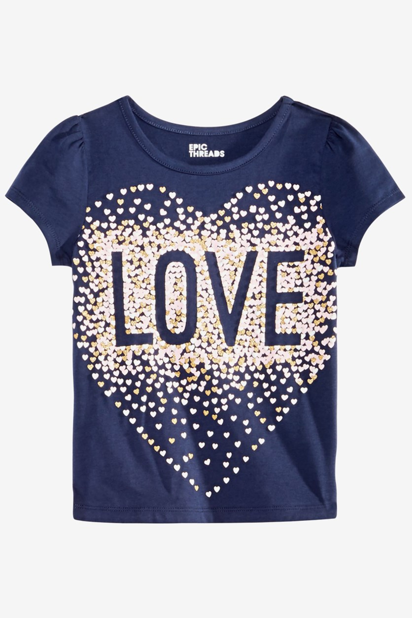 Girls Love T-Shirt, Peacoat