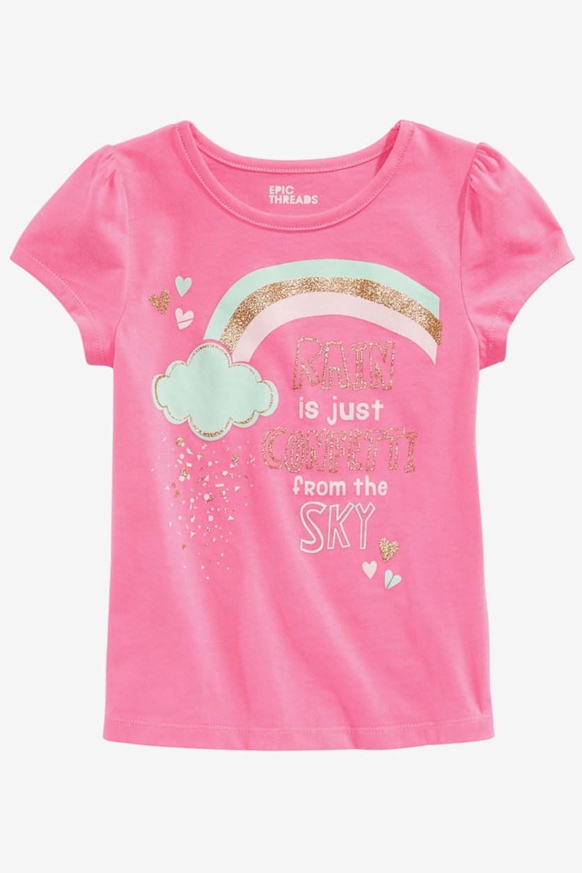 Toddler Girls Rainbow-Print T-Shirt, Pink