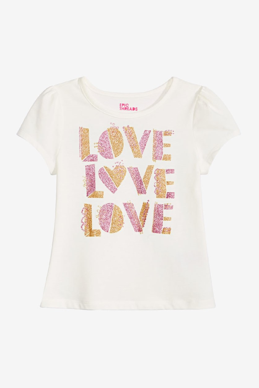 Toddler Girls Graphic-Print T-Shirt, Holiday Ivory
