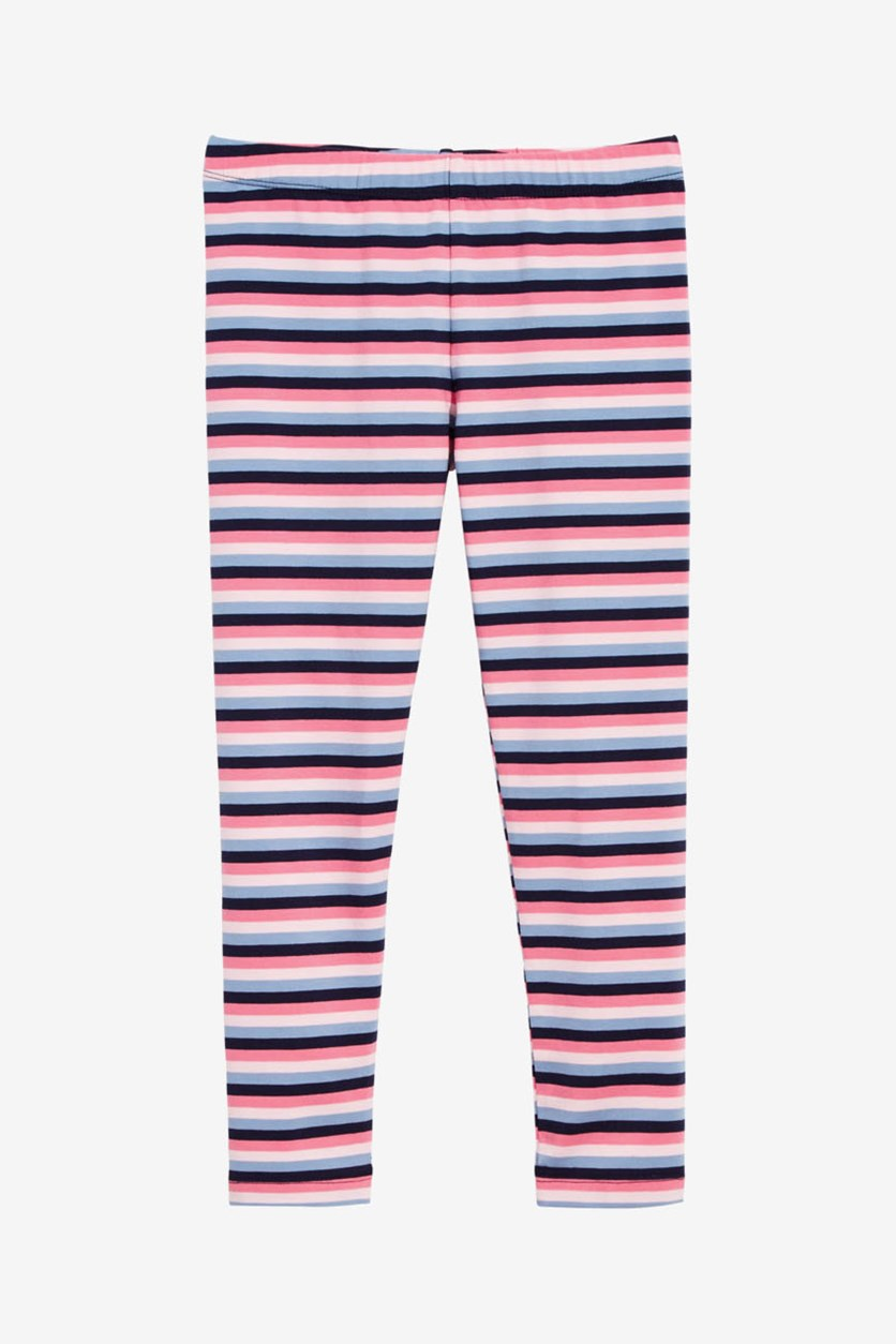 Toddler Girls Striped Leggings, Pink