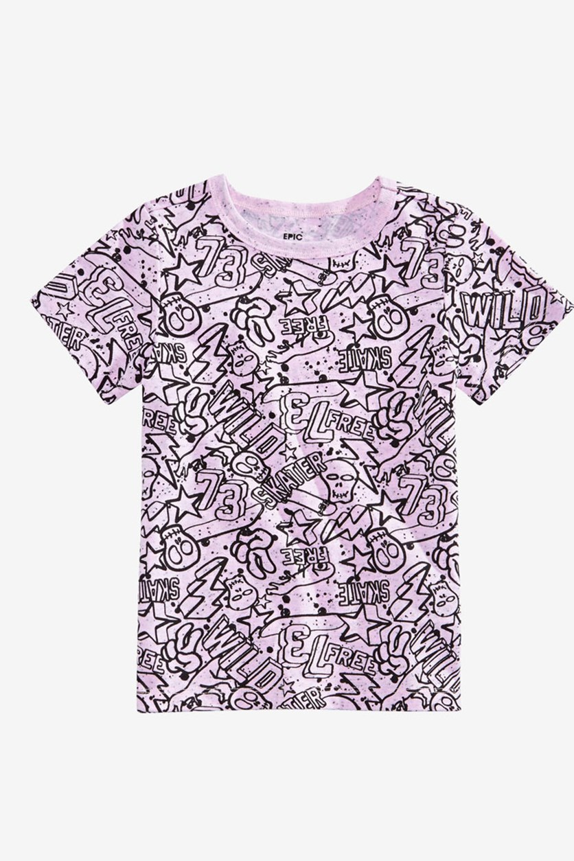 Kids Boys Graphic T-Shirt, Pink