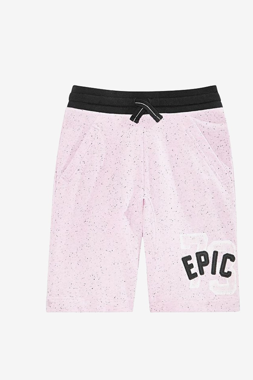 Big Boy's Logo Knit Shorts, Pink Punch