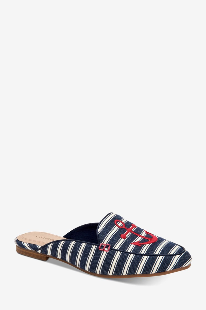 Women's Marshel Mules, Navy Anchor