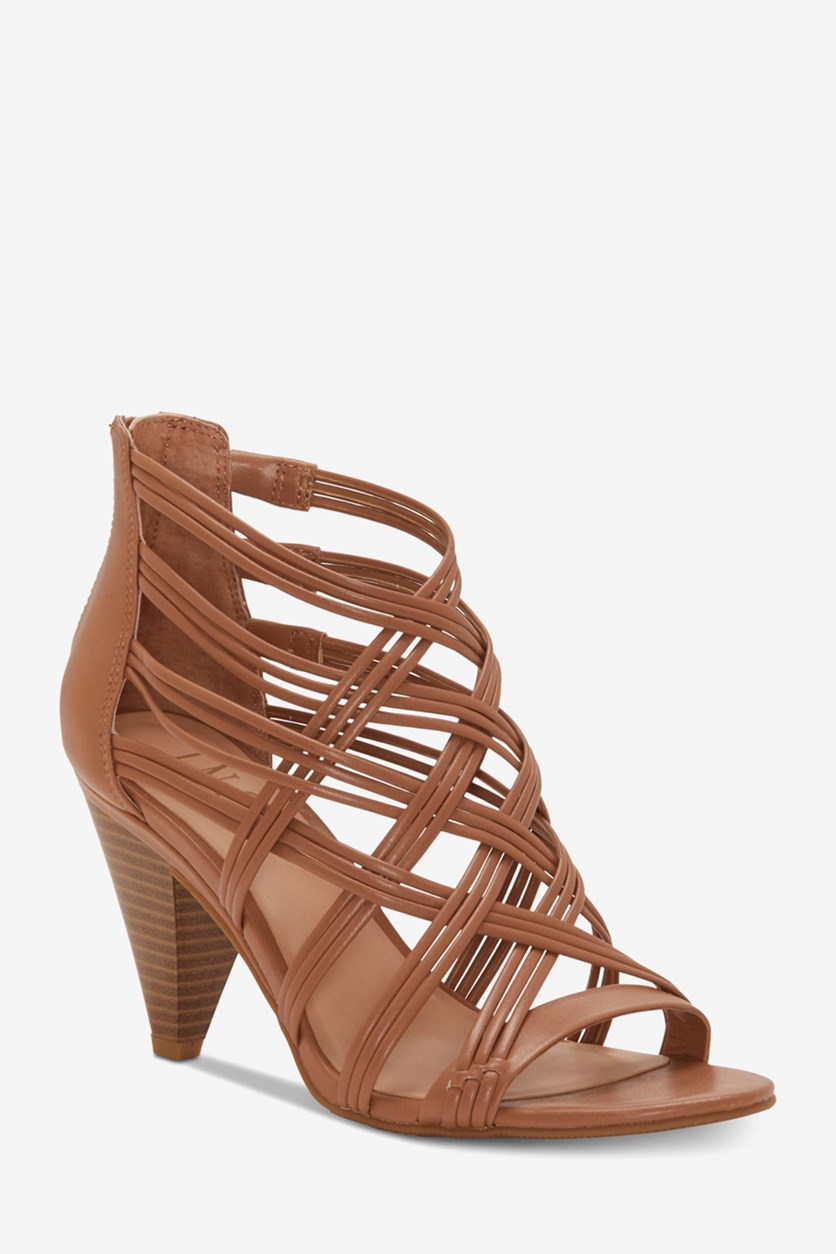 Women's Gustava Strappy Cone-Heel Sandals, Honey