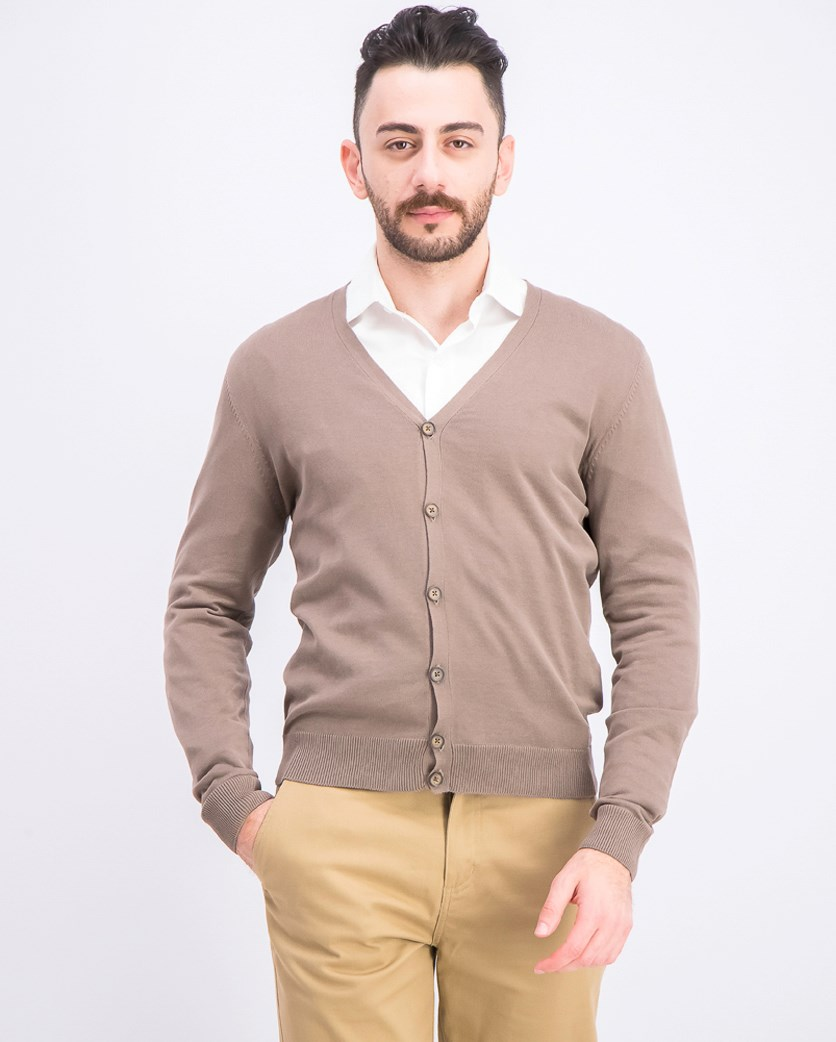 Men's Knitted Cardigan, Calce