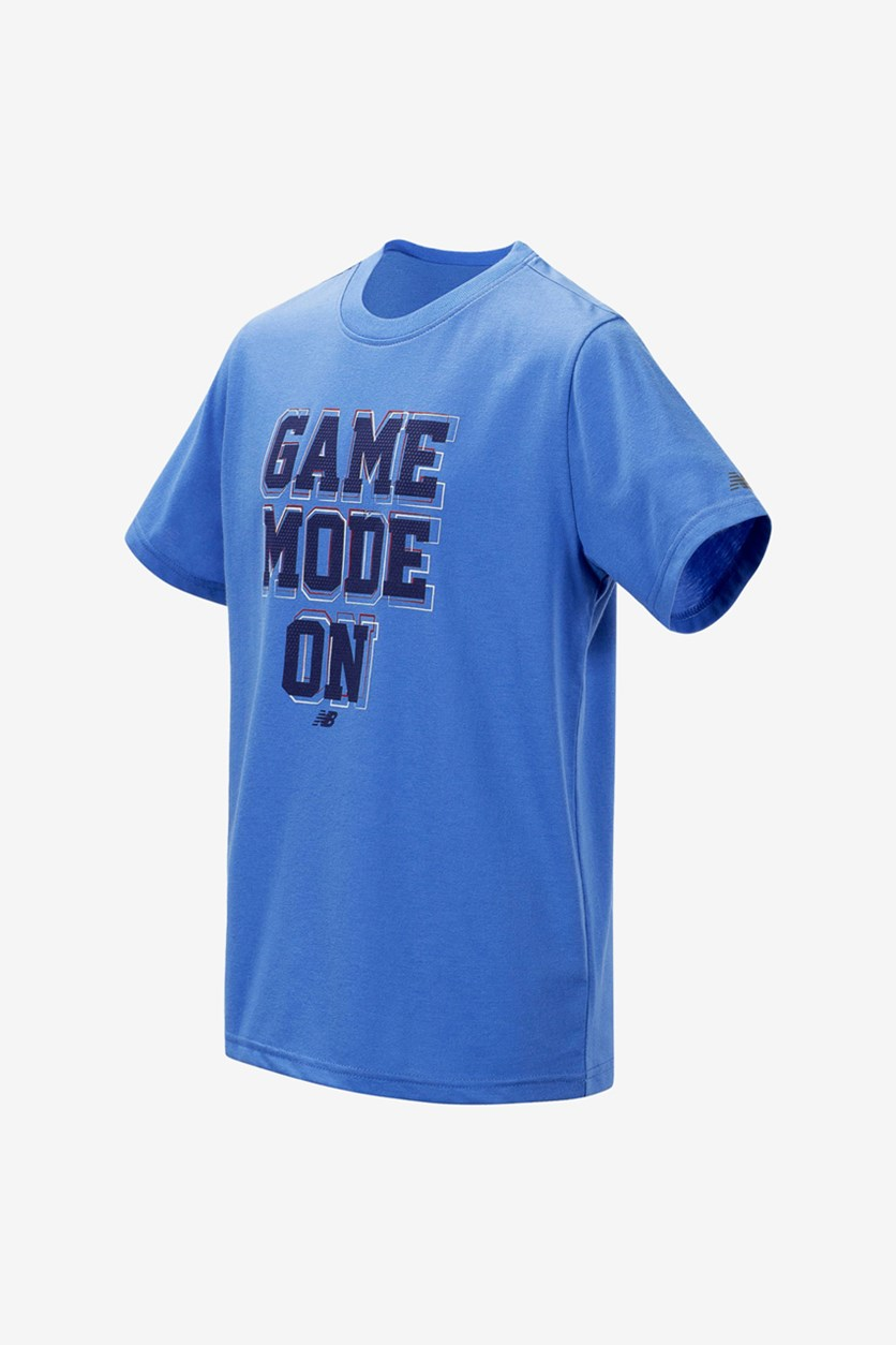 Kid's Boys' Game On Mode Graphic T-Shirt, Blue