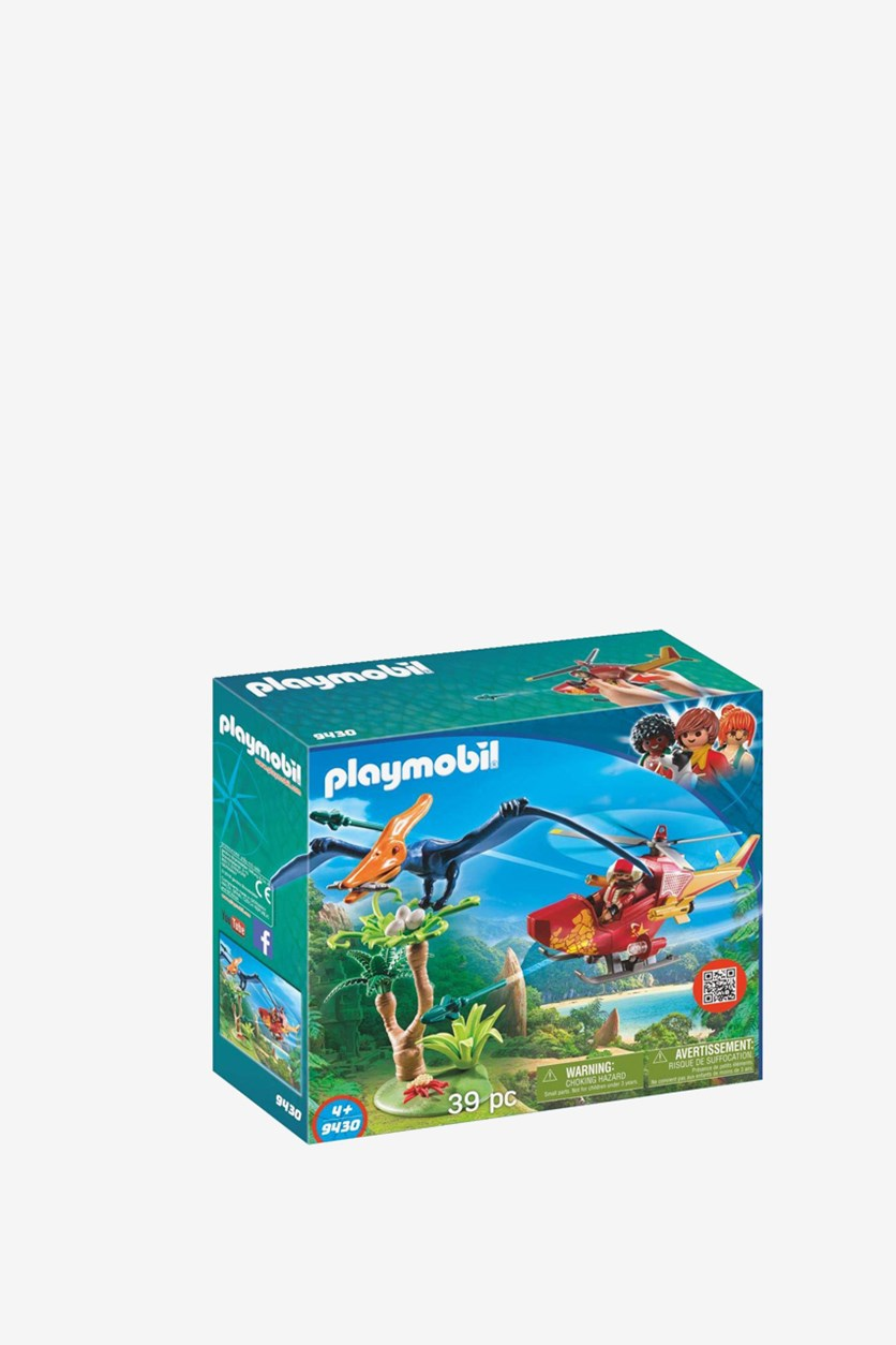 Adventure Copter with Pterodactyl, Blue Combo
