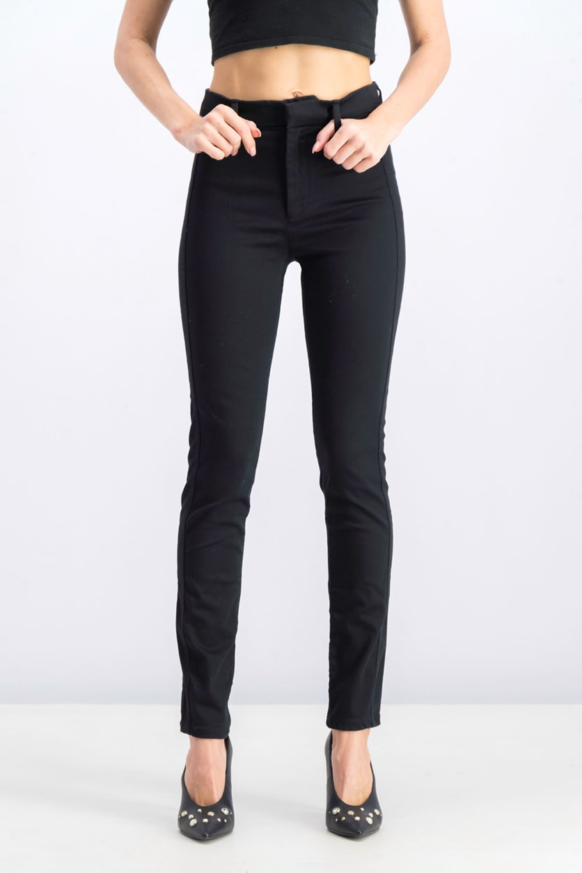 Women's High Rise Pants, Black