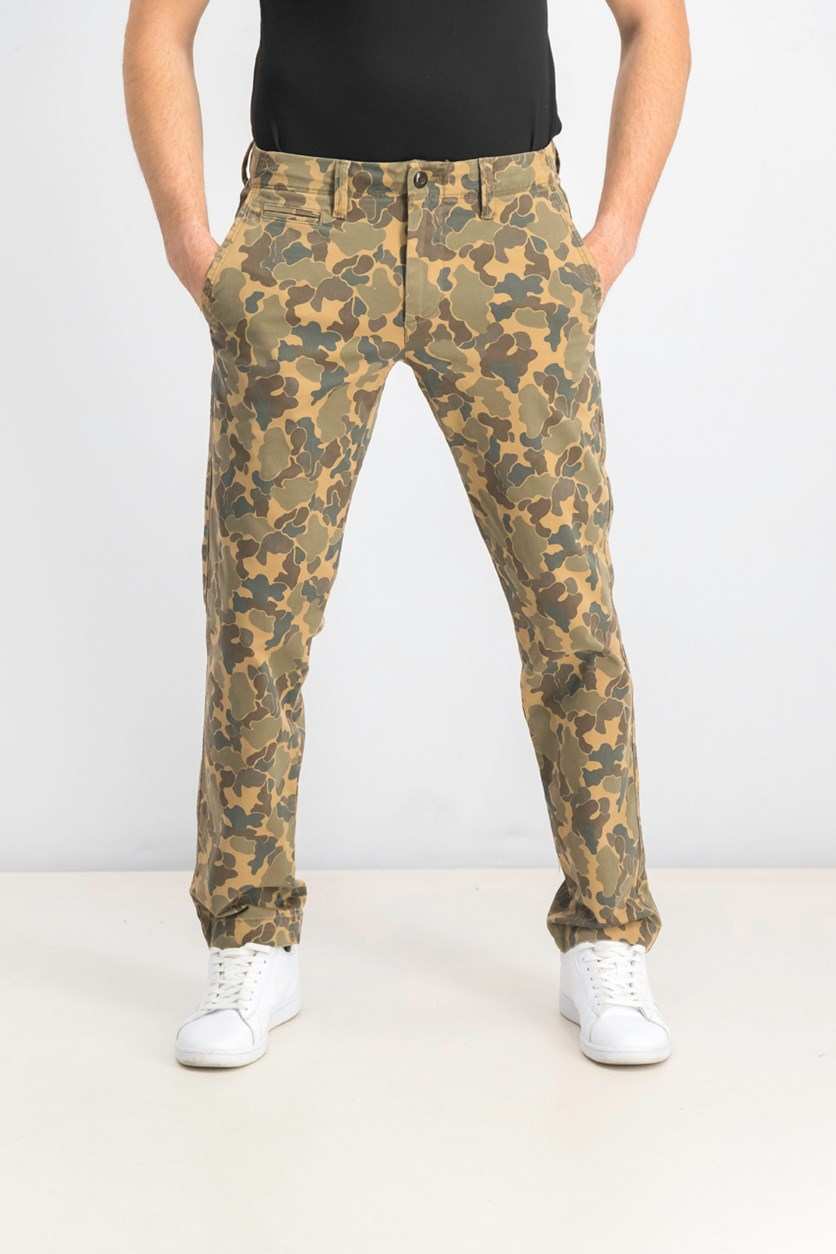 Men's Slim Camouflage Pants, Camouflage