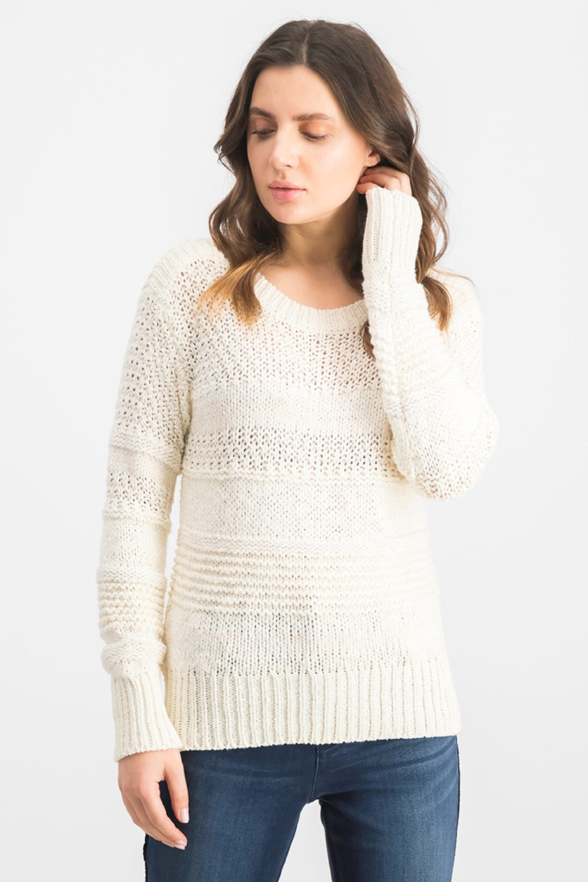 Women's Knitwear Sweater, Ivory