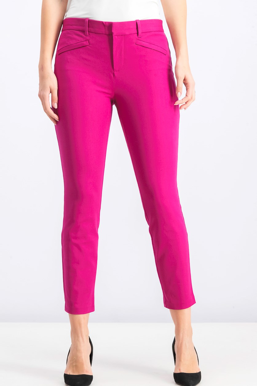 Women's  Ankle Bistretch Pants, Willow Pink