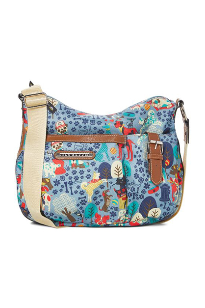 Who Let the Dogs Out Kathryn Classic Hobo, Blue