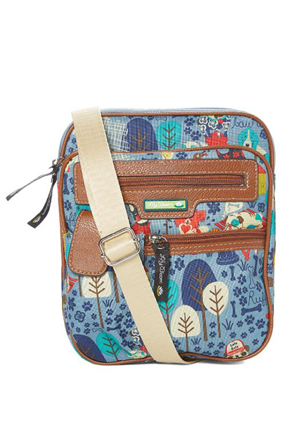 Who Let the Dogs Out Gigi Mini Crossbody Bag, Blue