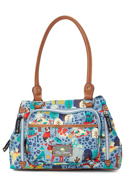 Who Let the Dogs Out Maggie Triple-Section Shoulder Bags, Blue