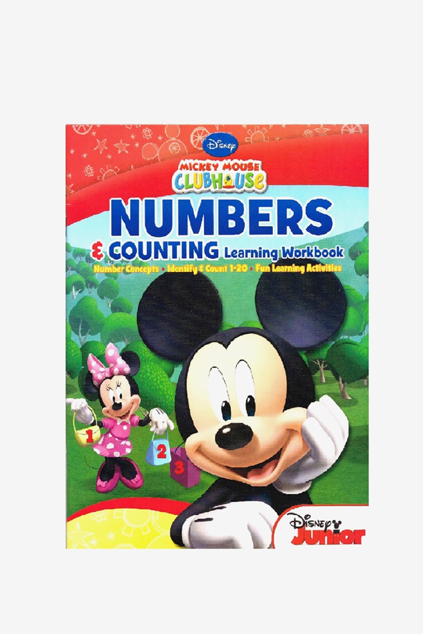 Mickey Mouse Numbers Counting Learning Workbook, Blue Combo