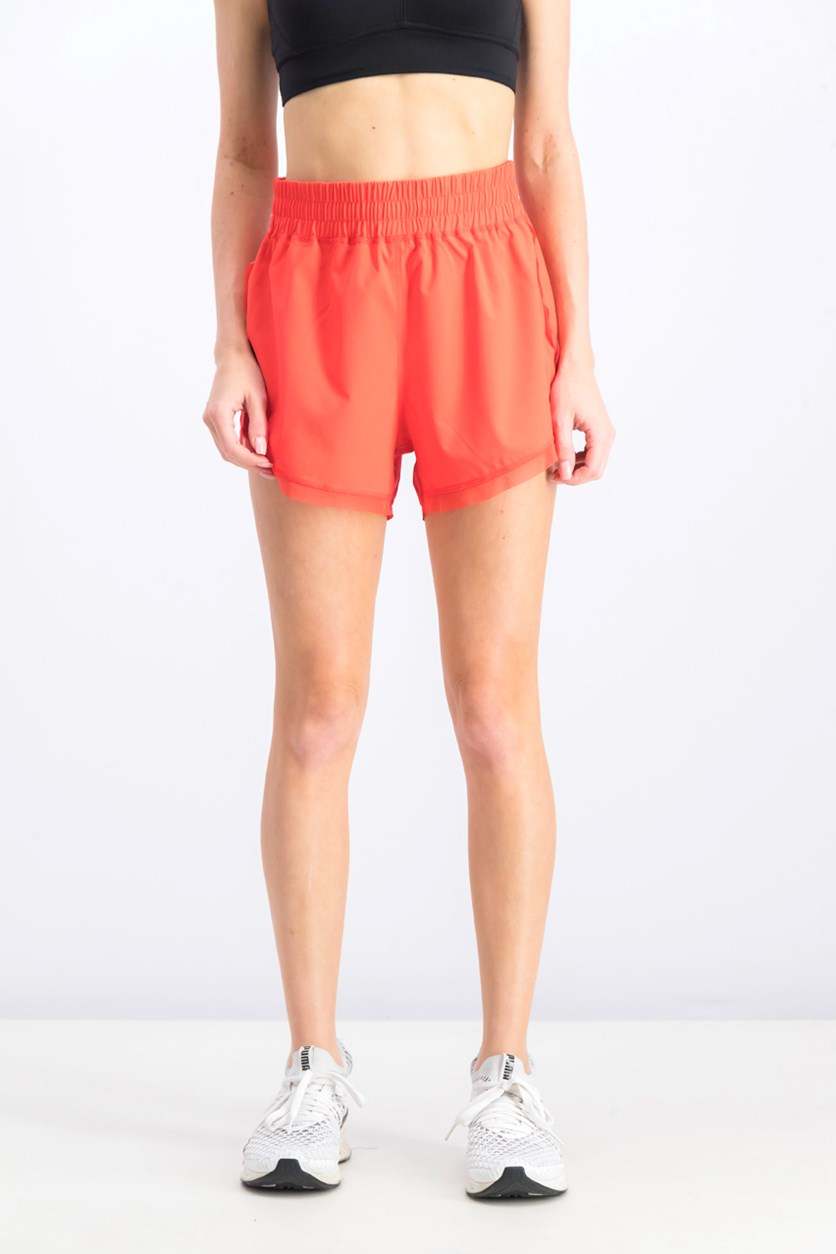 Women's Active Pull On Short, Red Orange