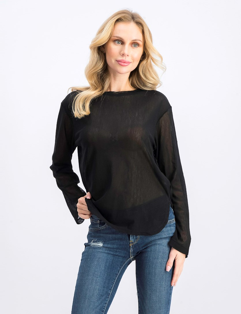 Women's Long Sleeve Top, Black