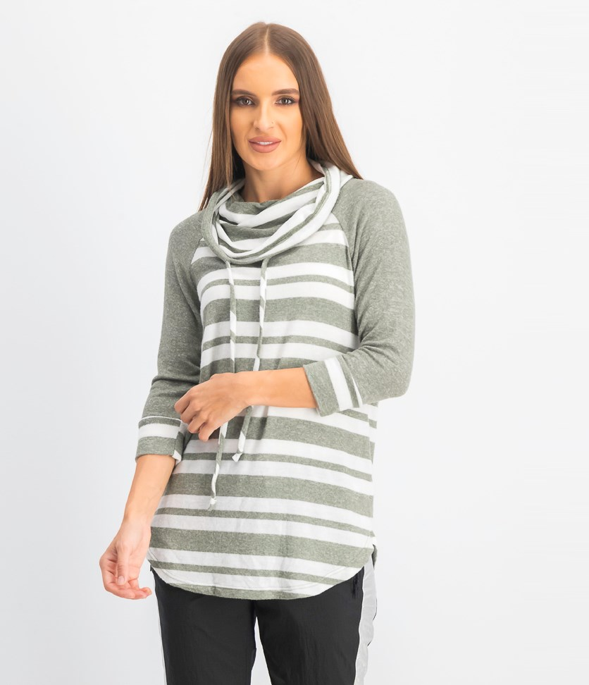 Women's Sybill Cowl Neck Brushed Knit Sweater, New Olive