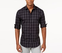 Men's Plaid Shirt, Black