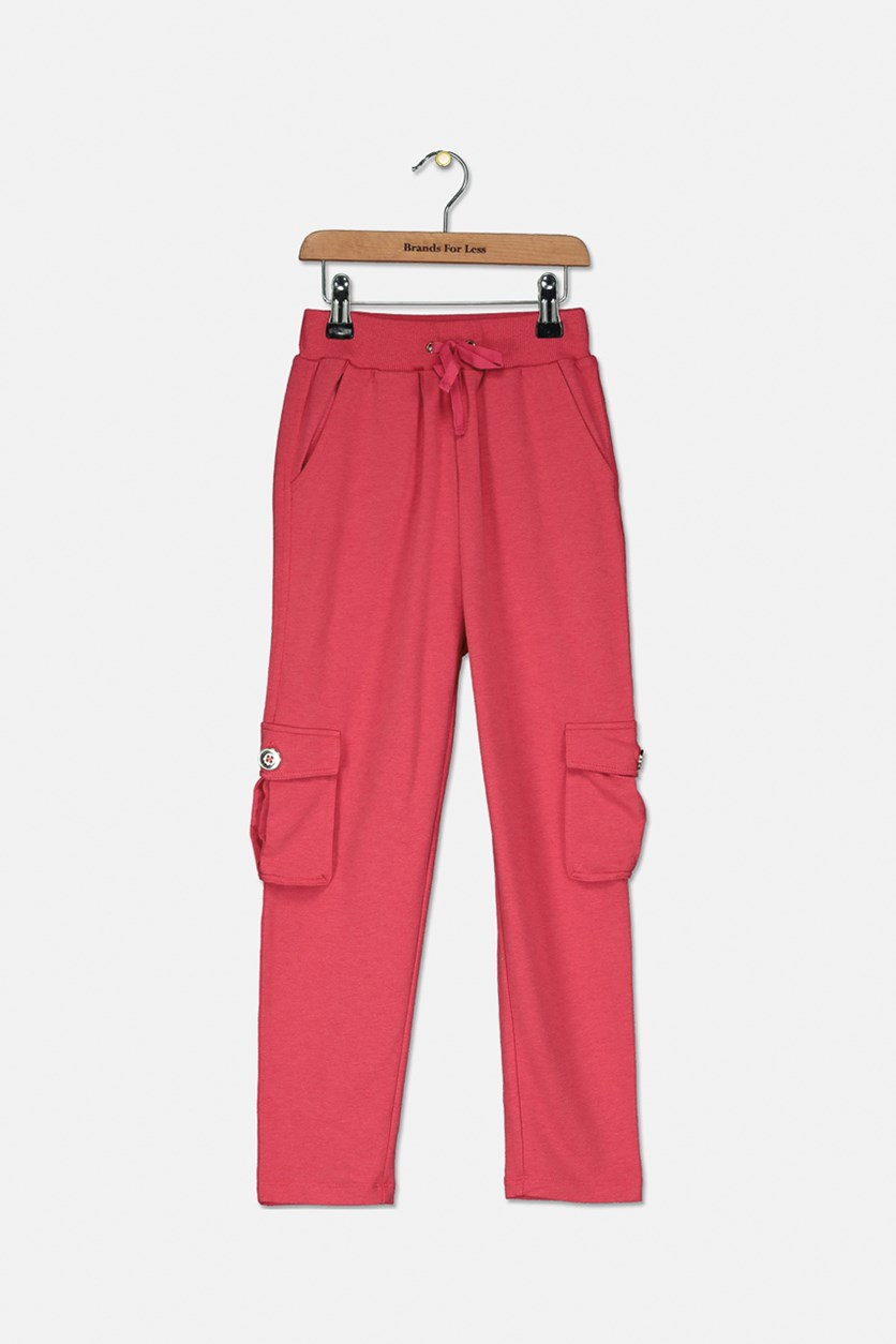Kid's Girl Pants, Red