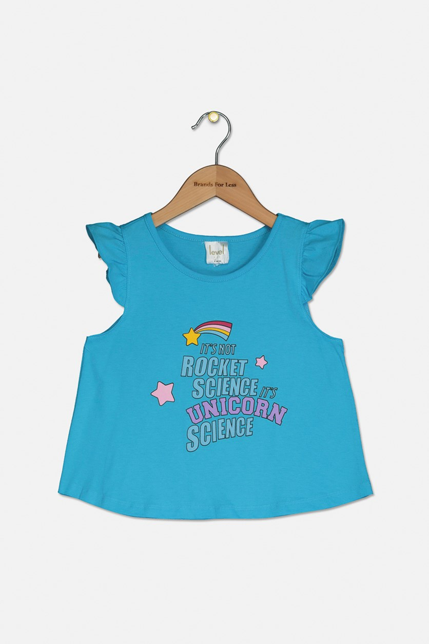 Little Girls Graphic T-Shirt, Blue