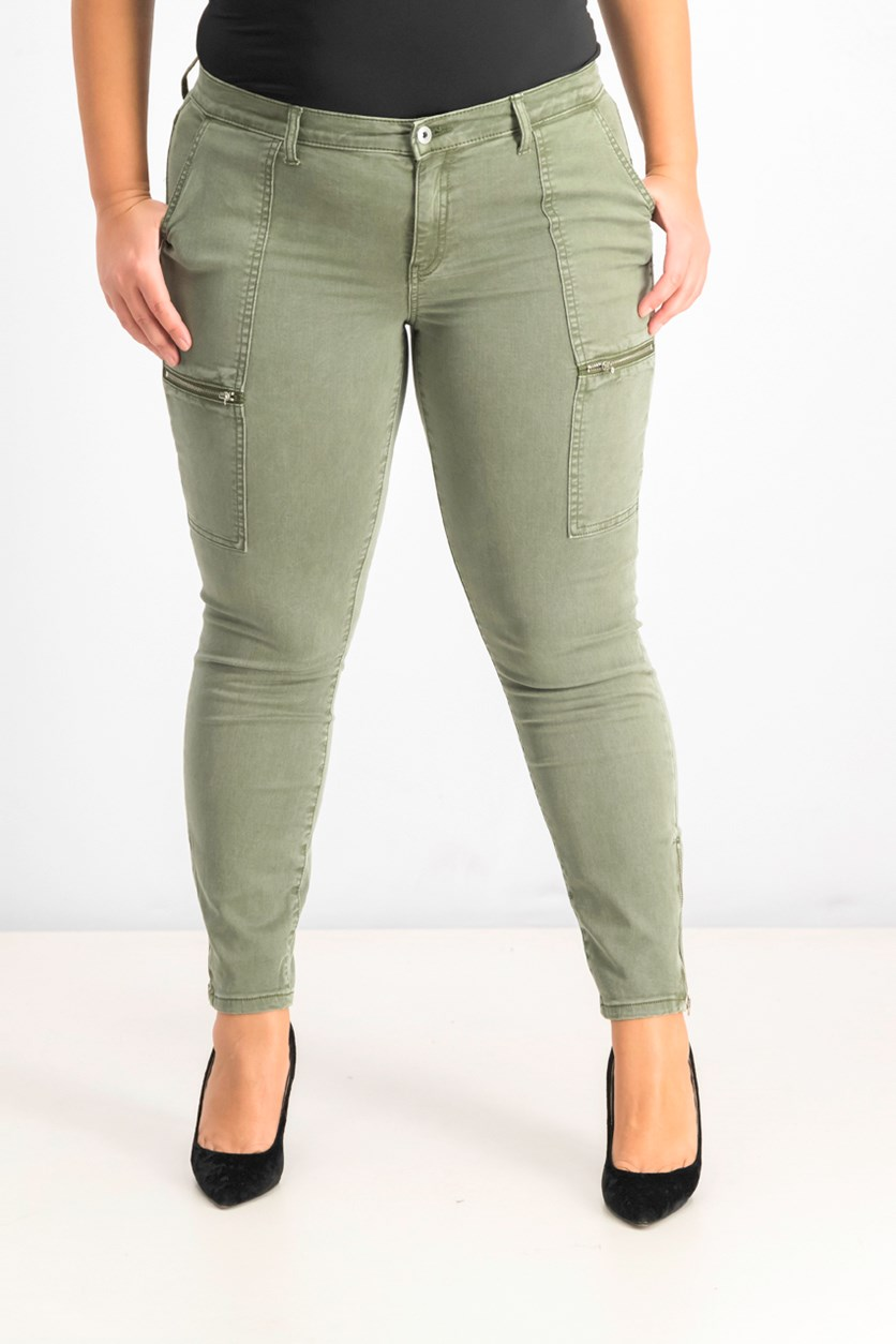 Military Patch Pocket Jeans, Cypress