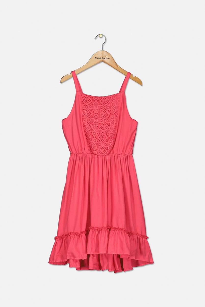 Girl's Textured Sleeveless Dress, Paradise